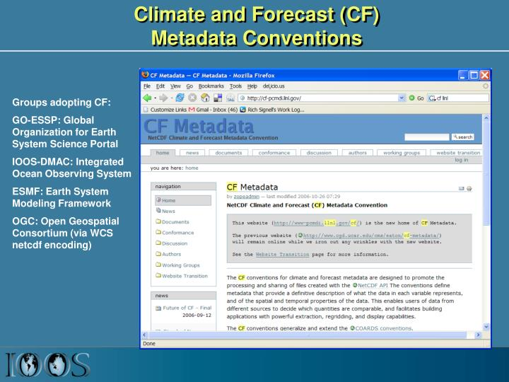 Climate and Forecast (