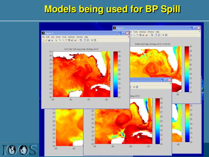 Models being used for BP Spill