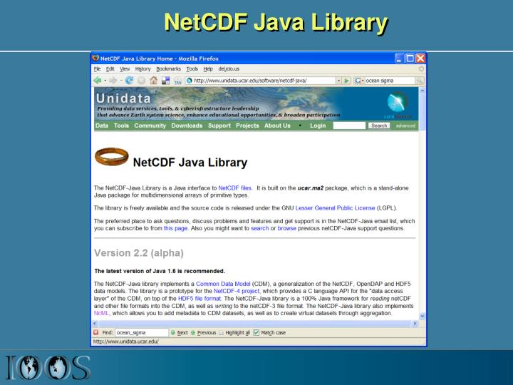 NetCDF Java Library