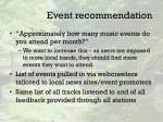 event recommendation