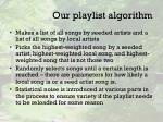our playlist algorithm2