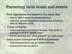 promoting local music and events