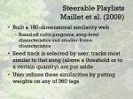 steerable playlists maillet et al 2009