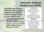 steerable playlists maillet et al 20091