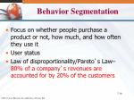 behavior segmentation