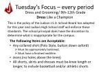tuesday s focus every period4