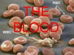 the blood