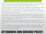 attendance and absence policy
