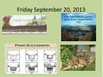 friday september 20 2013