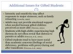 additional issues for gifted students