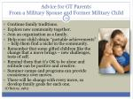 advice for gt parents from a military spouse and former military child