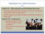 highlights for gifted students