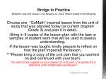 bridge to practice between now and session 2 on january 13 2014 please prepare the following