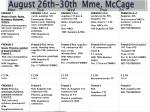 august 26th 30th mme mccage