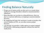 finding balance naturally