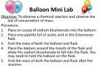 balloon mini lab