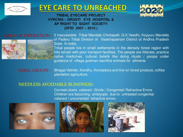 eye care to unreached n.