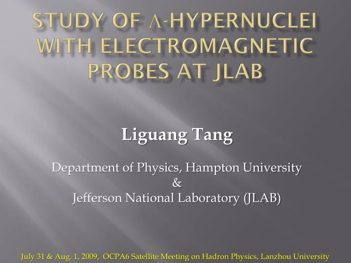study of hypernuclei with electromagnetic probes at jlab n.