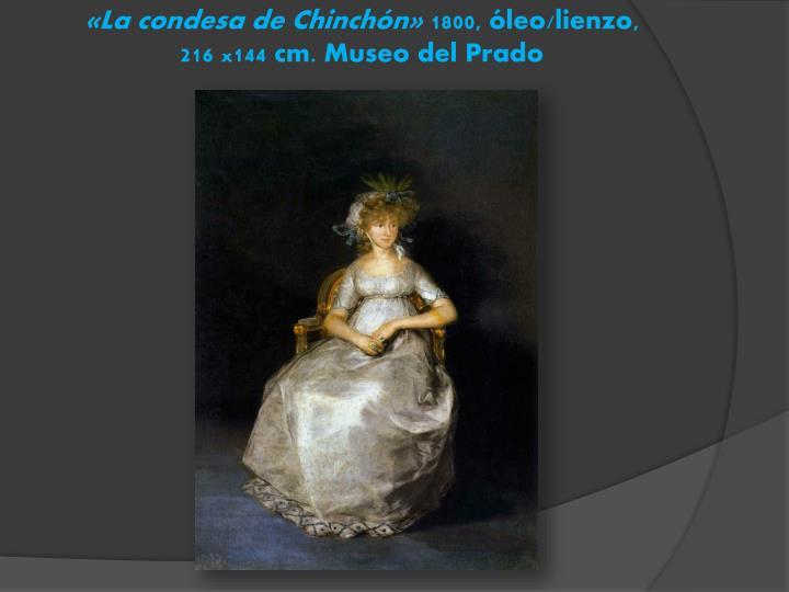 «La condesa de Chinchón»