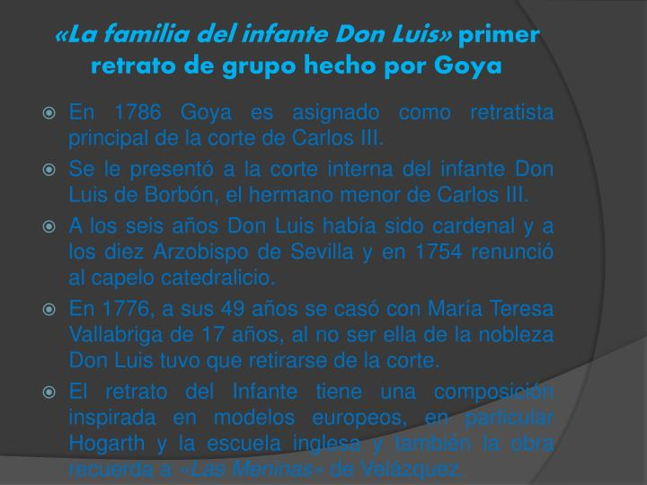 «La familia del infante Don Luis»