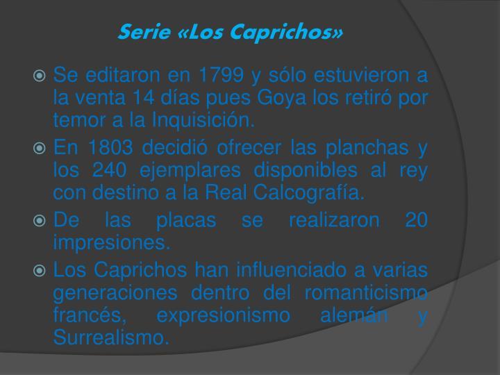 Serie «Los Caprichos»