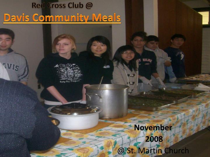 red cross club @ davis community meals n.