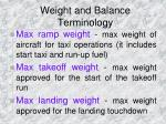weight and balance terminology2