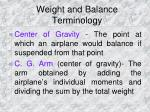 weight and balance terminology5