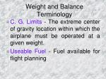 weight and balance terminology6
