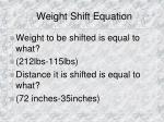 weight shift equation1