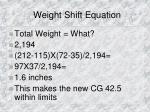 weight shift equation2