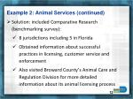 example 2 animal services continued