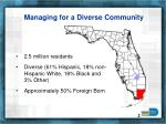 managing for a diverse community