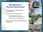 managing for a diverse government