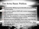 the arms race politics