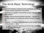 the arms race technology