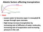 abiotic factors affecting transpiration1