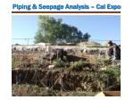 piping seepage analysis cal expo1