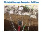 piping seepage analysis cal expo2