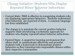 change initiative students who display repeated minor behavior infractions