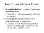 basic electrophysiological terms i1