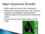 major depressive disorder