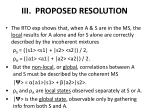 iii proposed resolution