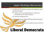 japan develops democracy