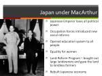 japan under macarthur
