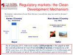 regulatory markets the clean development mechanism