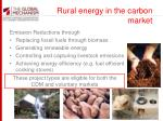 rural energy in the carbon market