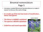 binomial nomenclature page 52