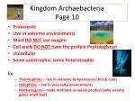 kingdom archaebacteria page 10