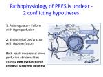 pathophysiology of pres is unclear 2 conflicting hypotheses